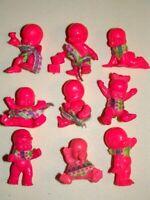 Lot de 9 figurines magic babies IDEAL el Greco rose fluo état voir description.