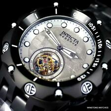 Invicta Reserve Venom Hybrid Meteorite Tourbillon Black Steel Watch 52mm New
