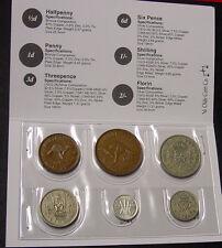 1949 Australian/GB Pre Decimal Coin Set in folder, nice gift!