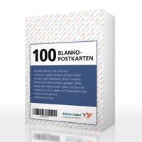 100 BLANKO-POSTKARTEN zum Selbstgestalten, Malen, für Drucker geeignet