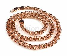 Unisex Chapado en oro rosa 48.3cm 49cm DOBLE ANILLO cadena de eslabones Langosta