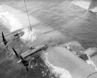 US Navy Consilidated PBY Catalina Crash 8x10 WWII WW2 Air Craft Photo 720