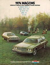 CHEVROLET STATION WAGON 1974 Stati Uniti BROCHURE VEGA Chevelle Impala Caprice Bel Air