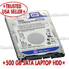 "Western Digital Hard Drive 500GB SATA Laptop Internal 5400 RPM 2.5"" Toshiba HGST"