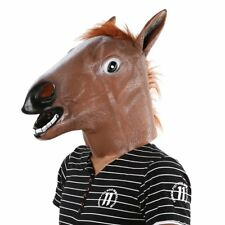 Horse Head Mask Latex Animal Costume Prop Gangnam Style Toys Party Halloween HAX