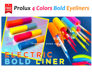 Prolux Color Eyeliners, Electric Bold Colors Eyeliners - All 4 Colors, Authentic