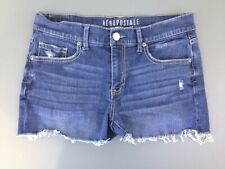 Aeropostale Women's Size 6 Cut Off Distressed Low Rise Denim Jean Short Shorts