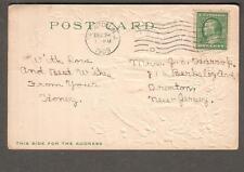1909 Dennison Merry Christmas post card Trenton Nj to Mrs Je Harrop Berkeley Ave
