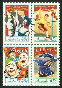 Australia 1997 Circuses, set of 4, mint never hinged