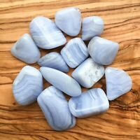 Large Blue Lace Agate Tumblestones 100g Wholesale Crystal Therapists Healers