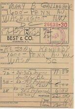 More details for jacqueline kennedy 1961 receipt john f kennedy the white house jfk aftal coa