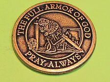 Full Armor of God  large bronze medallion.. combine shipping 10 coins for $2.60