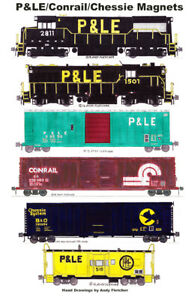 Pittsburgh & Lake Erie, Conrail, Chessie Train 6 magnets Andy Fletcher