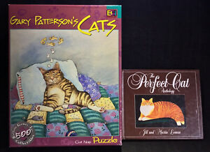 Jigsaw 2002 Puzzle CAT NAP 500 Piece Plus Book THE PERFECT CAT Anthology 1983