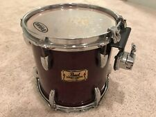 """Pearl 10"""" Masters Custom Maple Tom Drum Cherry Wine Lacquer Drums"""