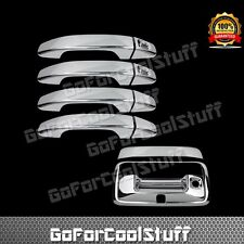 Fit 2014~18 GMC Canyon 4 Door Handle Chrome Cover W/PK+Tailgate Handle W/Key&Cam