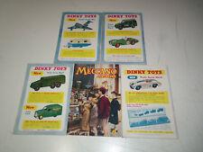 1954-1957 Lot 5 Nice MECCANO MAGAZINES Great DINKY TOY ADS British Boys Magazine