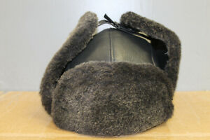 Crown Cap Shearling Aviator Color:Frosted Gray Size: X-Large