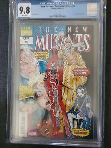 Marvel Comics New Mutants #98 Facsimile 1st Deadpool CGC 9.8