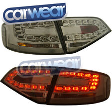 AUDI A4 B8 SEDAN 2008-2012 OEM STYLE SMOKE LED TAIL LIGHT & LED REVERSE  LIGHTS