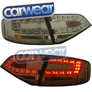 AUDI A4 B8 SEDAN 2008-2012 OEM STYLE SMOKE LED TAIL LIGHT & LED REVERSE  LIGHTS