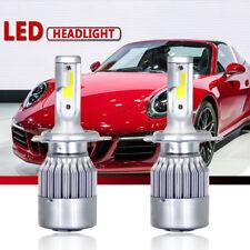 1pair H4 C6 6000K 10800LM 120W COB LED Car Headlight Kit Hi/Lo Turbo Lights