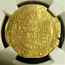 Italy: Naples. Carlo V gold Scudo d'Oro ND (1519-1556) AU58 NGC.
