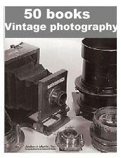 Fotografia Fotocamera Vintage Classiche 50 libri raccolta DVD ROM EBOOK GRATIS P&P