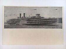 "Vintage Early 1900s Hudson River Dayline ""Hendrick Hudson"" Postcard Ship Boat"