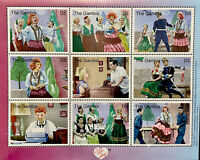 GAMBIA I LOVE LUCY STAMPS SHEET 9V 2000 MNH LUCILLE BALL SING DANCE DESI ARNAZ