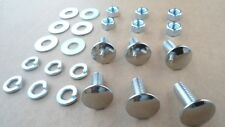 6 OLD SCHOOL STAINLESS STEEL BUMPER BOLTS/NUTS! 1950-70's GM CARS/TRUCKS 8408AX