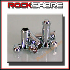 4 Chrome Roue Pneu Valve Dust Caps & Tige couvre (Fit TR413 soupapes) 20 mm