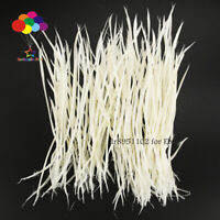 Goose Feathers 20-25cm 8-10 inch Carefully Crafted Smooth Dyed White Juju