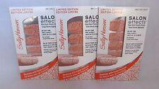 3 Lot Sally Hansen Salon Effects Limited Nail Polish Strips 013 Coral Group