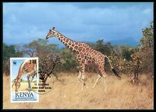 KENIA MK FAUNA GIRAFFE KENYA ANIMALS MAXIMUMKARTE CARTE MAXIMUM CARD MC CM bf22