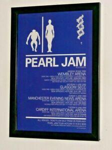 PEARL JAM Framed A4 2000 `UK Tour` Original band promo ART poster