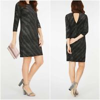 New Ex Dorothy Perkins Ladies BLACK Velvet Sparkly Dress X Mas Party Size 8-18