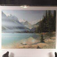 "Jake Vandenbrink Lakeside Trail Print 9x6"" Frameable Canadian Art Card Series"