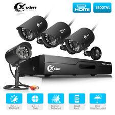 XVIM 4CH 720P HDMI DVR NVR IR Night Vision Home Security CCTV Camera System kits
