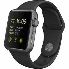 Apple Watch Sport 38mm Aluminum Case Black Sport Band - (MJ2X2LL/A)