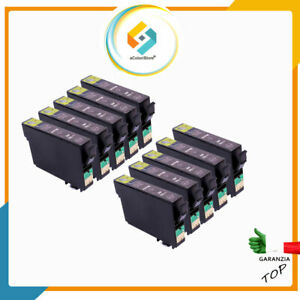 10 CARTUCCE NERE PER EPSON Stylus Office BX 305 F Stylus S22S X 125 SX 130