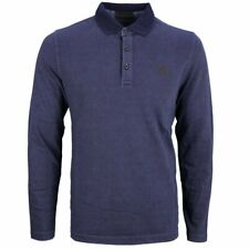Camel active Men's Long Sleeve Shirt Rugby Blue Strengthened 4P03 409306 43