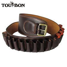 Tourbon Ammunition Belt Bandolier Holder Ammo Carrier Leather 23 Loops Gun 12 GA