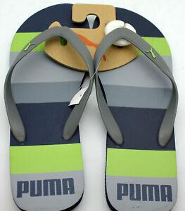 New Puma Flip-Flops Sandals Size 11 Blue and Green