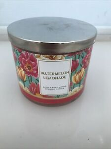 Bath & Body Works Cool Off Watermelon Lemonade 3 Wick Candle Summer Fruit