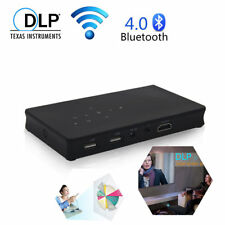 Mini 3000Lumens DLP Android Wifi 1080P Projector HDMI Bluetooth Built-in Battery
