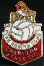 CHARLTON ATHLETIC Vintage SUPPORTERS CLUB Badge Maker EMBLEMS LONDON 18mm x 28mm