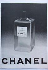 page de publicite  EAU DE COLOGNE CUIR DE RUSSIE de CHANEL en  1952 ref. 53228