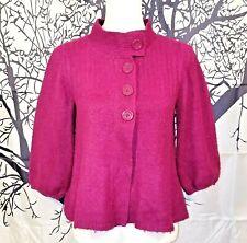 LOVE ROCKS Womans RASPBERRY Shrug Jacket OPEN FRONT Sweater Juniors Vintage Med