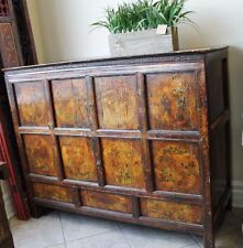 Decorative Old World Sideboard Cabinet W/ Detailed Chinese Painting Finish
